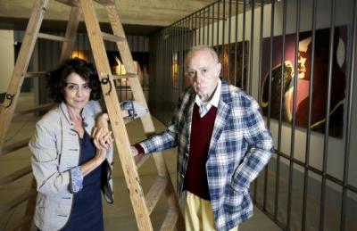 Fabienne Di Rocco et Eduardo Arroyo, les commissaires de l'exposition.