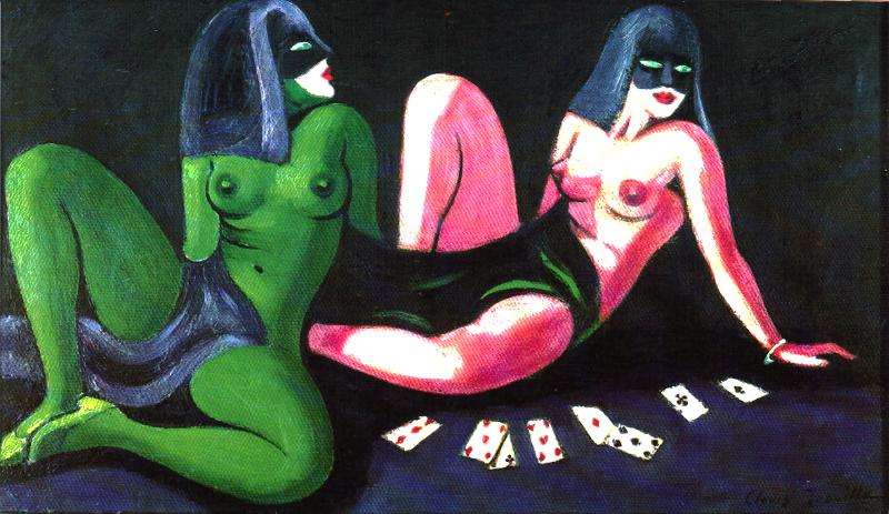 les joueuses de cartes