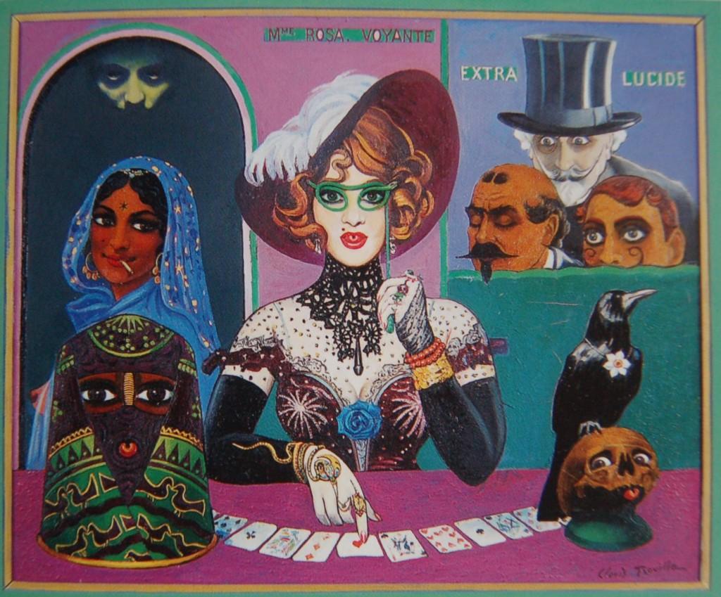 """"""" MADAME ROSA - VOYANTE """" huile sur toile. 46 x 38 cm"""