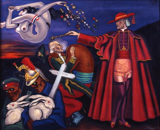 Remembrance 1930 – 1933, huile sur toile 70 x 86 cm-Dali-Surréalisme-guerre